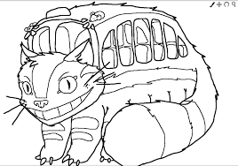 Small Picture 8 Pics Of Totoro Cat Bus Coloring Pages My Neighbor Totoro