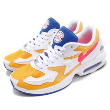 Details About Nike Air Max2 Light Gold Yellow Crimson Blue Mens Running Shoes Nsw Ao1741 700