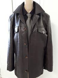 giorgio armani men s leather jacket