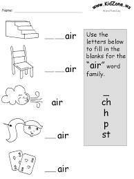 Free printable word family worksheets