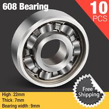 steel bearings fidget spinner. 10pcs bearing steel 608 spinner bearings for diy fidget hand spiner aluminium figit