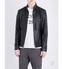 leather jackets michael kors men michael kors racer leather jacket black h136w