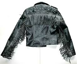 vigoss women s studded embroidered faux leather moto jacket size medium for
