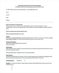Cover Letter Sponsorship Fundraising And Sponsorship Proposal Application Event Cover