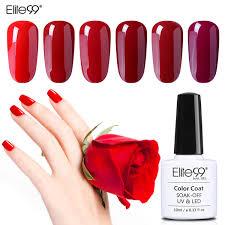 Elite99 Wine Red Series Pick 1 Nail Gel Polish Need Uv Gel Led Lamp Manicure Lacquer 10ml Semi Permanent Nail Art Rimmel Nail Polish Crackle Nail