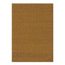 hand loom bari orange wool rug