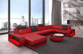 Couch U Form Mikrofaser