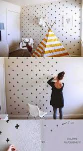 diy tape wall genius home decor ideas 6 2