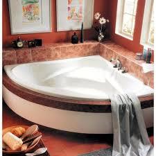 white modern corner bathtubs