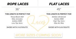 Shoelace Sizing Love Your Laces