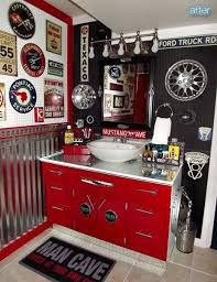 man cave bathroom. Wonderful Bathroom Better After In The Auto Zone  Man Cave Bathroom How To Make A For N