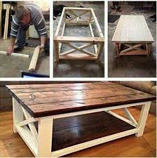 Diy rustic coffee table Casters Diy Rustic Coffee Table Pinterest Great Space Saver For Small Closet Or Room Furniture