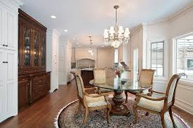 choose your area rug based on the type of furniture you have for instance a round table looks best