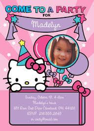 Hello Kitty Party Invitation Hello Kitty Party Invitation