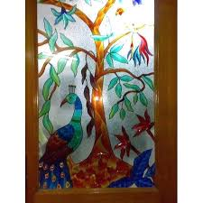 painted window glass painting on windows removable