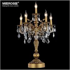 luxurious lighting. 2018 Luxurious Bronze Color Crystal Table Light Desk Wedding Candelabra Lustres Lighting From Meerosee11, $546.29 | Dhgate.Com