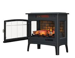 com duraflame dfi 5010 01 infrared quartz fireplace stove with 3d flame effect black home kitchen