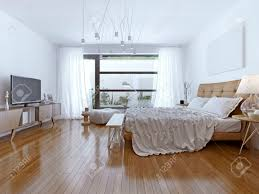 Gestaltung Helles Schlafzimmer Zeitgenössischen Stil 3d übertragen