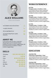 Resume Template Creative Cv Doc Word Free