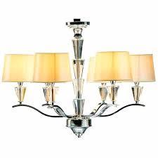 crystal 6 light lemon gold drum chandelier leaf