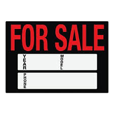 Printable Car For Sale Sign Template Business Card Website
