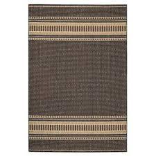 pueblo design black cocoa 4 ft x 5 ft area rug