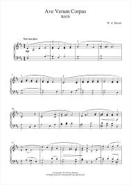 ave verum corpus sheet music ave verum corpus k618 sheet music by wolfgang amadeus mozart piano