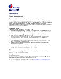Cover Letter For Hr Internship Resume Cover Letter For Job