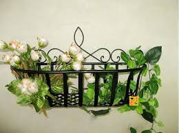 iron wall shelf hanging flowers shelves multilayer flowers decorations shelf 2 colors wall home kitchen bathroom storage basket
