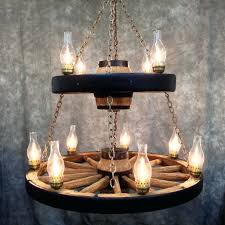 full image for chandelier living room double wagon wheel chandelier with 11 chimney lights swag hook