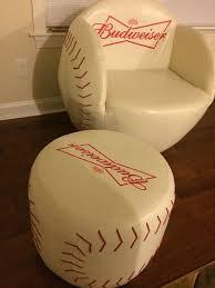 baseball chair with ottoman baseball baseball glove