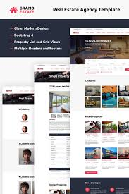 Bootstrap Website Grand Estate Website Template