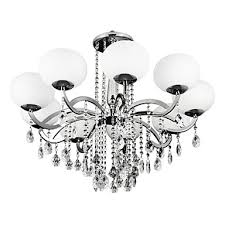lightinthebox 9 light candle style chandelier uplight electroplated metal glass crystal 110 120v