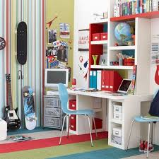 ... boy's bedroom with painted walls and wooden furniture View ...