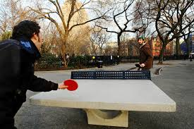the joys of ping pong in the open