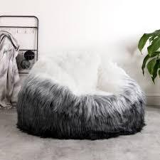 large size of co rosette faux fur bean bag chair grey faux fur bean bag chair