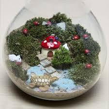 fairy garden terrarium. Beautiful Garden 18Pcsset Home Bonsai Succulents Micro Landscape Decoration Fairy Garden  Miniatures DIY Doll House Model And Terrarium
