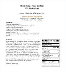 Recipe Template Word Recipes Template Distrack Info
