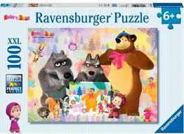 <b>Пазл</b>. <b>Ravensburger</b>. Маша и медведь. 100 элементов (10590)