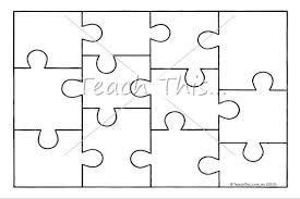 Jigsaw Puzzle Template Printable Teacher Resources Teach This