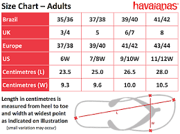 Havaianas Size Chart Buurtsite Net
