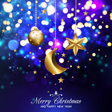 dark blue christmas background. Delighful Dark Dark Blue Christmas Background With Xmas Golden Balls Stars And Moon Vector And Blue Christmas Background R