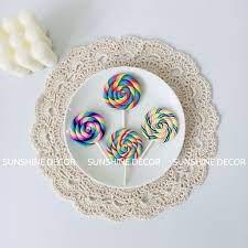 Kẹo Mút Kẹo Lolipop Nhựa Chụp Ảnh Trang Trí Bánh Sinh Nhật chính hãng  15,000đ