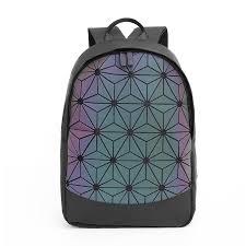 Fashion Women Backpack Men Geometric <b>Luminous</b> Backpack ...
