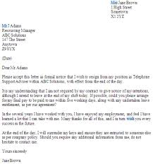 No Notice Resignation Letter Examples Pdf Examples