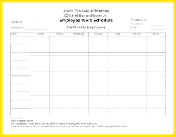 Roster Sheet Template Restaurant Work Schedule Template Employee Weekly Printable