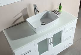 design element stanton single vessel sink vanity set with white finish 48 inch com