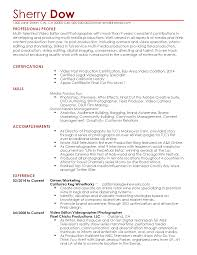Resume For Videographer Professional Videographer Templates to Showcase Your Talent 1