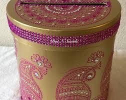Decorated Money Box Henna gift card box Etsy 25