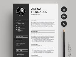Resume Cv 2 Pages By Resume Templates Dribbble Dribbble